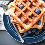 Overnight  Waffles with Blueberries