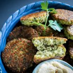 Baked Black Eyed Pea fritters