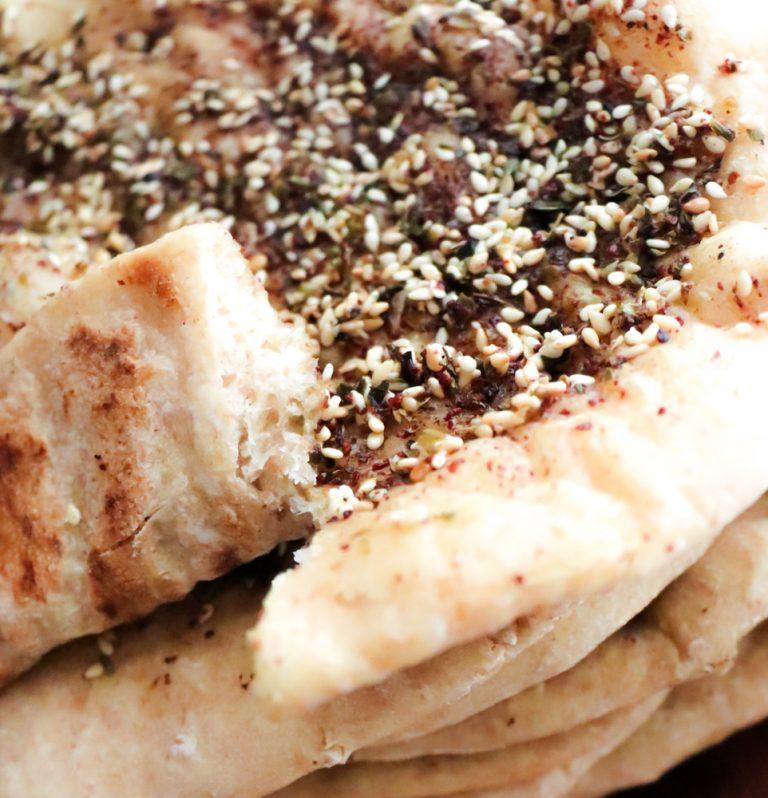 Za'atar Bread flat bread middle eastern spiced pita bread